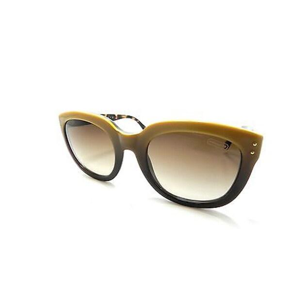 Coach Casey L525 Sunglasses (Yellow Gradient/Tortoise Arms) - 51MM