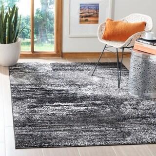 Safavieh Adirondack Modern Abstract Silver/ Black Rug (6' x 9')