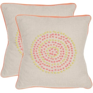 Safavieh Love Knots Neon Rainbow Throw Pillows (20-inches x 20-inches) (Set of 2)