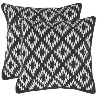 Safavieh Navajo Diamond Black Throw Pillows (20-inches x 20-inches) (Set of 2)