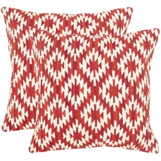 Safavieh Southwestern Diamond Red Throw Pillows (20-inches x 20-inches) (Set of 2)
