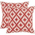 Safavieh Navajo Diamond Red Throw Pillows (20-inches x 20-inches) (Set of 2)