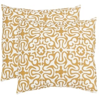 Safavieh Quixote Sienna Throw Pillows (20-inches x 20-inches) (Set of 2)