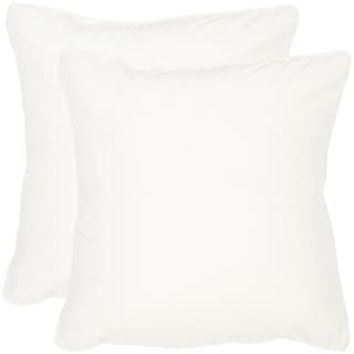 Safavieh Velvet Dream Snow White Throw Pillows (20-inches x 20-inches) (Set of 2)