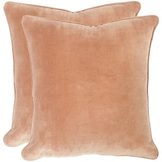 Safavieh Velvet Dream Dusty Apricot Throw Pillows (20-inches x 20-inches) (Set of 2)