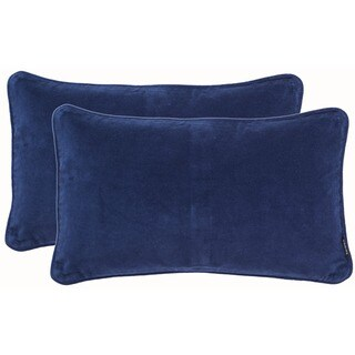Safavieh Velvet Dream Indigo Throw Pillows (12-inches x 20-inches) (Set of 2)