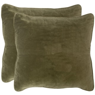 Safavieh Velvet Dream Vert Throw Pillows (12-inches x 20-inches) (Set of 2)