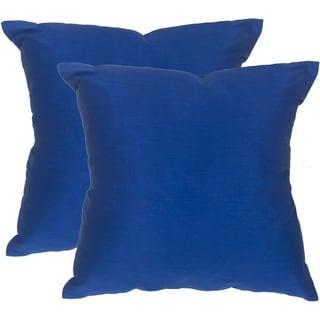Safavieh Luster Indigo Throw Pillows (20-inches x 20-inches) (Set of 2)