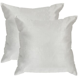 Safavieh Luster Silver/Dust Throw Pillows (20-inches x 20-inches) (Set of 2)