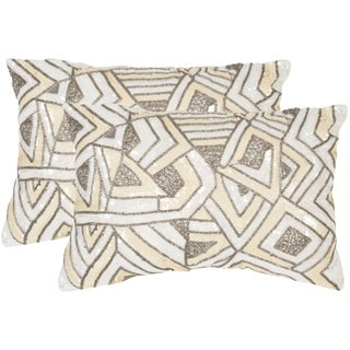 Safavieh Ricci Pale Yelow Throw Pillows (12-inches x 18-inches) (Set of 2)