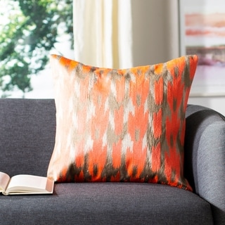 Safavieh Boho Chic Neon Tangerine Throw Pillows (20-inches x 20-inches) (Set of 2)