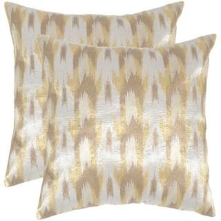 Safavieh Boho Chic Metallic Silver Throw Pillows (20-inches x 20-inches) (Set of 2)