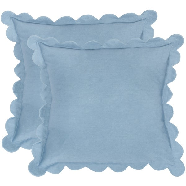 Safavieh Pinafore Wedgwood Blue Throw Pillows (20-inches x 20-inches) (Set of 2)