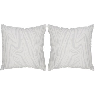 Safavieh Marbella White / Silver Throw Pillows (20-inches x 20-inches) (Set of 2)