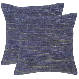 Safavieh Eloise Dark Orchid Throw Pillows (20-inches x 20-inches) (Set of 2)