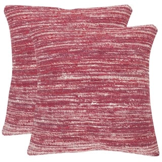 Safavieh Eloise Pixie Red Throw Pillows (20-inches x 20-inches) (Set of 2)