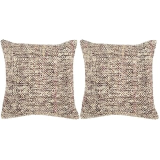 Safavieh Carrie Burnt Brown Throw Pillows (20-inches x 20-inches) (Set of 2)