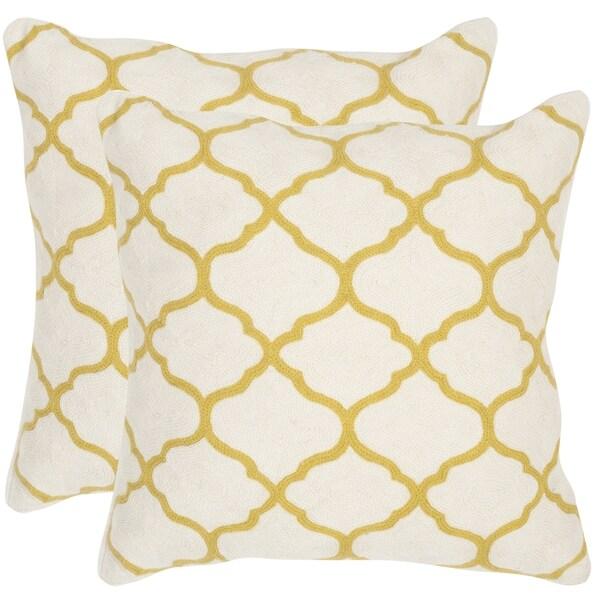 Safavieh Rhea Pear Green Throw Pillows (12-inches x 20-inches) (Set of 2)