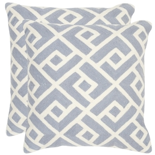Safavieh Swifty Periwinkle Throw Pillows (20-inches x 20-inches) (Set of 2)