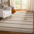 Safavieh Hand-Woven Dhurries Natural Wool Rug (5' x 8')