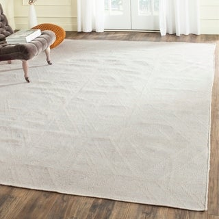 Safavieh Hand-Woven Kilim Ivory/ Light Grey Viscose Rug (5' x 8')