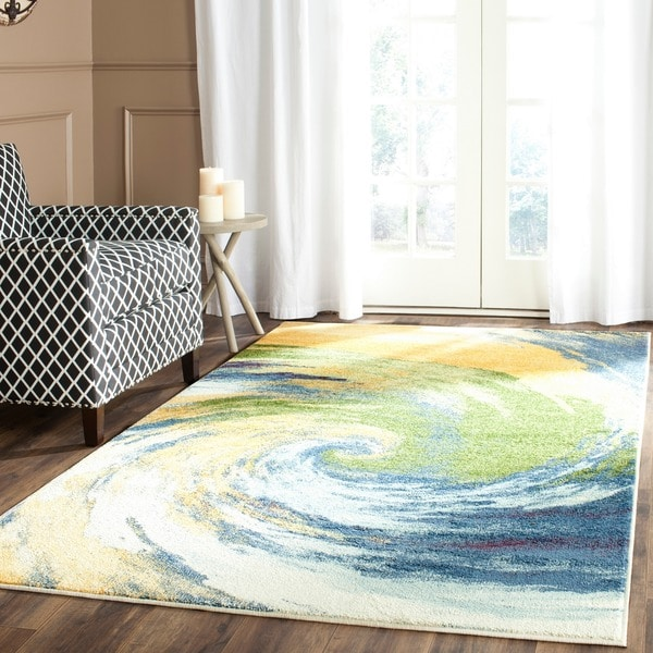 Safavieh Evoke Gold/ Blue Rug (3' x 5')