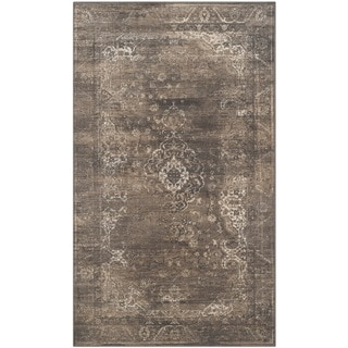 Safavieh Vintage Soft Anthracite Viscose Rug (3'3 x 5'7)
