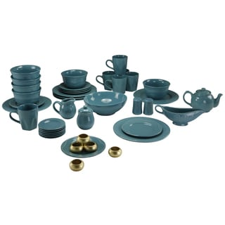 Vivo Teal Beaded 45-piece Dinner Set