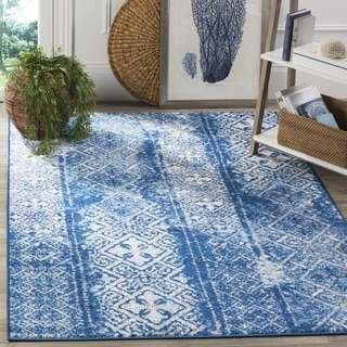 Safavieh Adirondack Silver/ Blue Rug (6' Square)