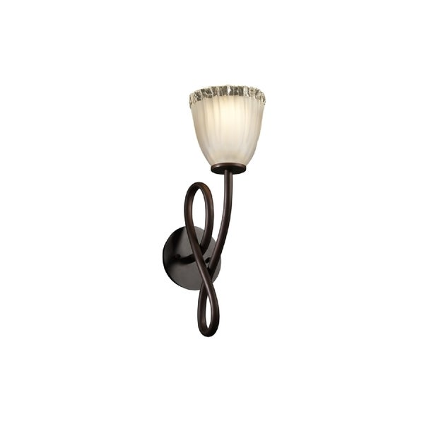 Justice Design Group Veneto Luce Capellini Sconce, Bronze with White 15537765