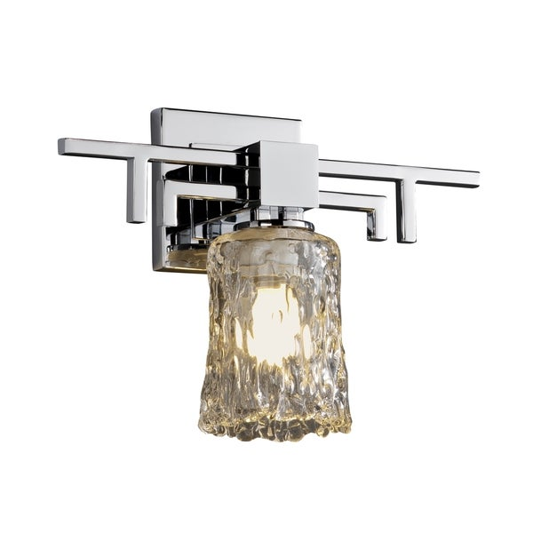 Justice Design Group Veneto Luce Aero Sconce, Chrome with Clear