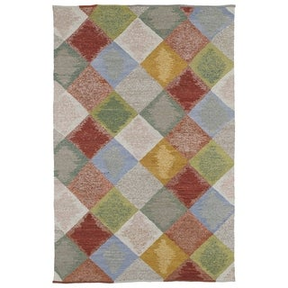 Mallard Creek Robin's Egg Argyle Diamonds Wool Rug (8'0 x 10'0)