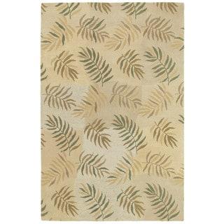 Moods Ivory La Playa Floral Wool Rug (8' x 10')