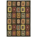 Moods Charcoal Kara Geometric Wool Rug (8' x 10')