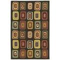 Moods Charcoal Kara Geometric Wool Rug (9'6