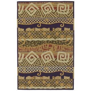 Moods Ecru Bangalore Swirls Wool Rug (8' x 10')