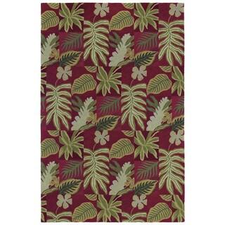 """Moods Red Brasil Floral Wool Rug (9'6"""" x 13')"""