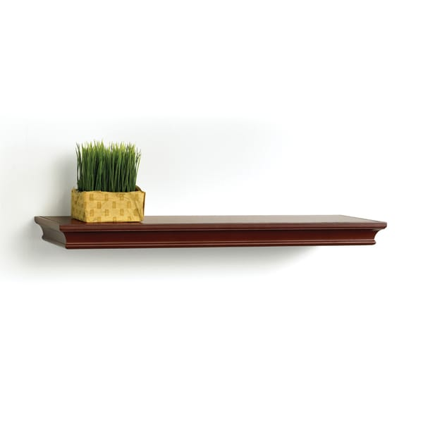Lewis Hyman Kingston Collection Mahogany Bracketless Decorative Shelf