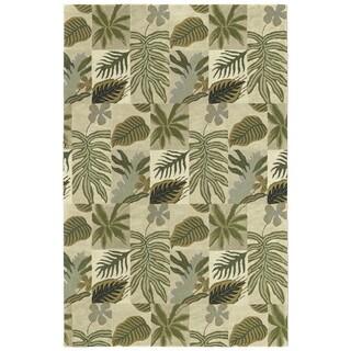 "Moods Sand Brasil Floral Wool Rug (9'6"" x 13')"