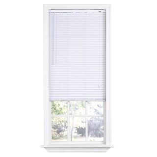 Premium Room Darkening White Mini Blinds with 1-inch Slats