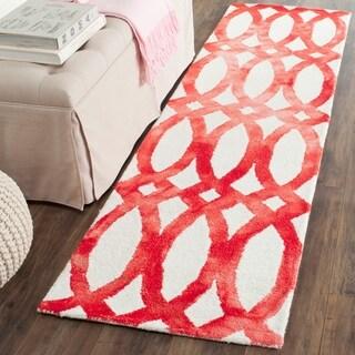 Safavieh Hand-Tufted Dip Dye Ivory/ Red Wool Rug (2'3 x 8')