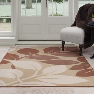 Windsor Home Leaf Petals Area Rug (5' x 7'7)