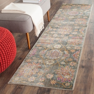 Safavieh Sevilla Grey/ Multi Viscose Rug (2'1 x 8')