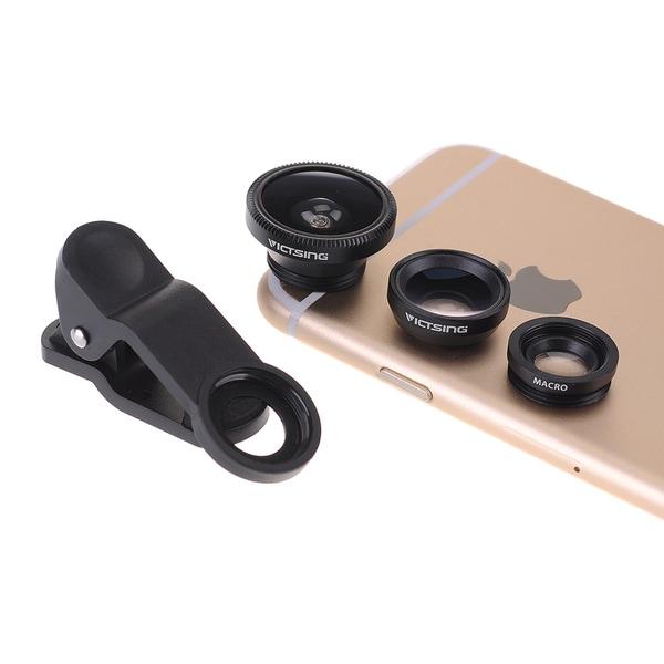 3-in-1 Clip-on 180-degree Fisheye Lens/ Wide Angle Lens/ Micro Lens Camera Lens Kit for Apple iPhone 6/ 6 Plus