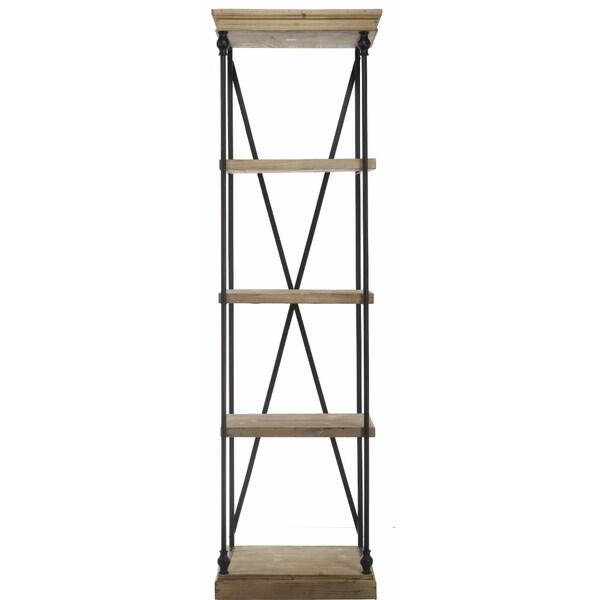 kathy ireland tall wood metal etagere 17338148. Black Bedroom Furniture Sets. Home Design Ideas