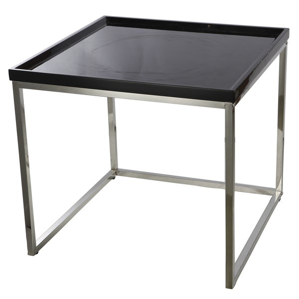 Demmi Wood Chrome Nesting Table