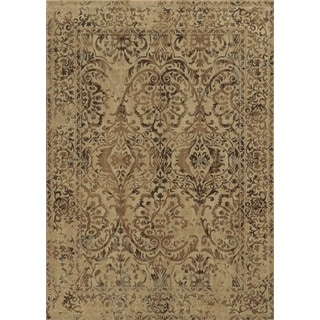 Beige Rizzy Home Bennington Collection Power-Loomed Accent Rug (9'10 x 12'6)