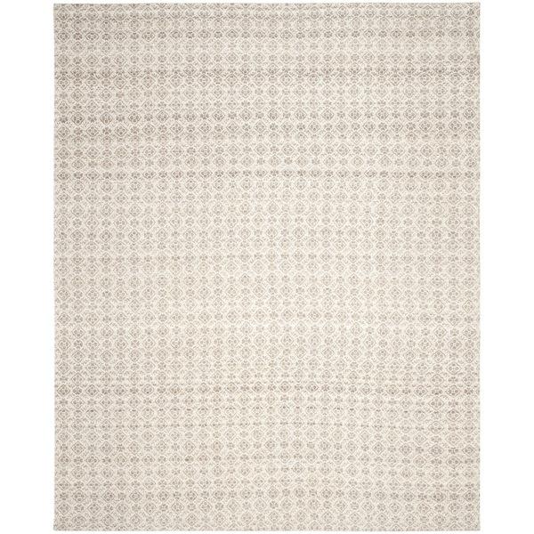 Safavieh Hand Woven Kilim Grey Ivory Wool Rug 8 X 10