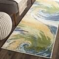 Safavieh Evoke Gold/ Blue Rug (2'3 x 8')