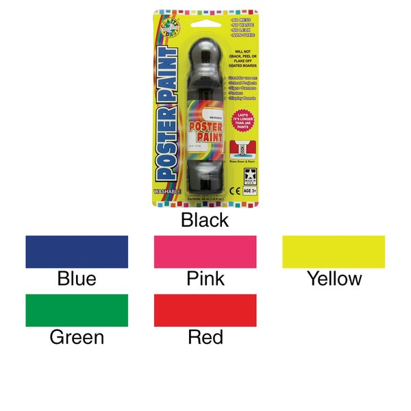 Poster Paint Marker Carded 1.6oz